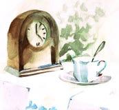Durée toujours avec l'horloge illustration stock