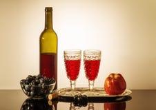 Durée toujours avec le vin rouge Photo stock