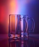 Durée toujours 1 Verre à vin en verre de bière Images stock
