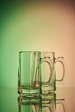 Durée toujours 1 Verre à vin en verre de bière Images libres de droits