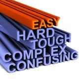 Dur et dur faciles Image libre de droits
