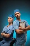Dur labeur des médecins Photo stock