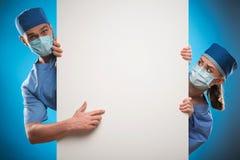 Dur labeur des médecins Images libres de droits