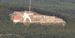 Dur Yolcu纪念品在Kilitbahir区 图库摄影