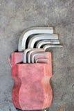 Durab barato hermoso inoxidable del fondo blanco de la herramienta de la llave de hex. Fotografía de archivo