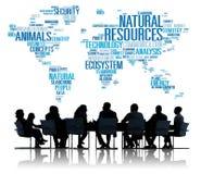 Durabilité environnementale de conservation de ressources naturelles concentrée Photo libre de droits