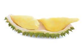 Durain frukt av Thailand på vit bakgrund Arkivfoton