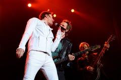 Duran Duran (popmusikband) utför på sonarfestivalen arkivbilder