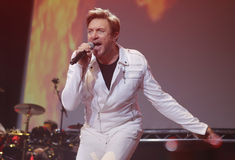 Duran duran at sonar 012. Simon le Bon, leading singer of British pop band Duran Duran performs live at Sonar Advanced Music Festival in Barcelona Stock Images