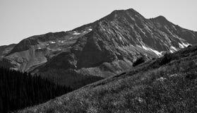 Durango Colorado Mountain Peak preto e branco Imagens de Stock