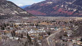 Durango, Colorado vanaf de bovenkant Royalty-vrije Stock Fotografie