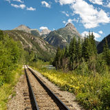 Durango e binari ferroviari del calibro stretto di Silverton Immagine Stock