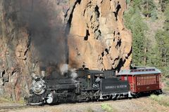 Durango e ferrovia del calibro stretto di Silverton immagine stock libera da diritti