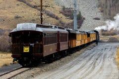 Durango et étroit Gage Railroad de Silverton le Colorado dans Silverton C images libres de droits
