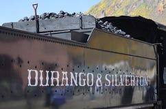 Durango & giro della strada di ferrovia del calibro stretto di Silverton, Est 1881 Immagini Stock Libere da Diritti