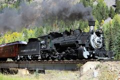 Durango i Silverton Wąskiego wymiernika linia kolejowa Zdjęcie Royalty Free