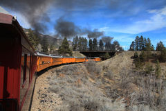 Durango i Sliverton linia kolejowa Zdjęcia Stock
