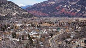 Durango, Kolorado od wierzchołka Fotografia Royalty Free