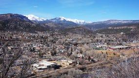 Durango, le Colorado à partir du dessus Images stock