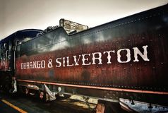 Durango and Silverton on Brown Stained Train Stock Image