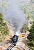 Durango Silverton Narrow Gauge Railroad Colorado, USA royaltyfri bild