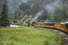 Durango and Silverton Narrow Gauge Railroad Steam Engine Train ride, Durango, Colorado, USA Royalty Free Stock Image