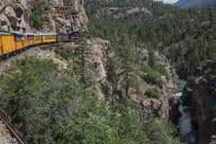 Durango and Silverton Narrow Gauge Railroad Steam Engine Train ride, Durango, Colorado, USA Stock Image