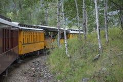 Durango and Silverton Narrow Gauge Railroad Steam Engine Train ride, Durango, Colorado, USA Royalty Free Stock Photos