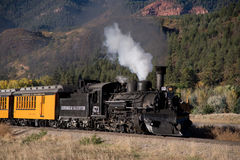 Durango Steam Train. Steam Train waiting at the Durango and Silverton Station in Colorado stock photos