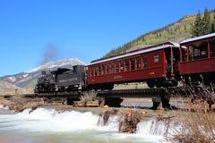 Durango y ferrocarril del indicador estrecho de Silverton imágenes de archivo libres de regalías