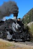 Durango y ferrocarril del indicador estrecho de Silverton foto de archivo