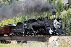 Durango y ferrocarril del indicador estrecho de Silverton foto de archivo libre de regalías