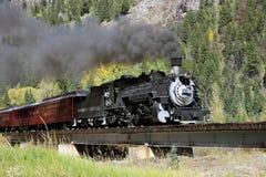 Durango y ferrocarril del indicador estrecho de Silverton imagen de archivo libre de regalías