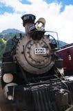 Durango zu Silverton-Zug in Silverton eine alte silberne Bergbaustadt im Staat Colorado USA Lizenzfreie Stockbilder