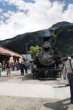 Durango zu Silverton-Zug in Silverton eine alte silberne Bergbaustadt im Staat Colorado USA Lizenzfreie Stockfotografie