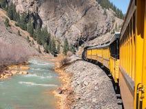 Durango zur Silverton-Schmalspureisenbahn Lizenzfreie Stockfotos