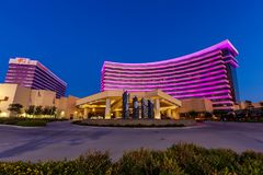 DURANT, l'OKLAHOMA - 17 octobre 2017 - vue de casino de Choctaw et Photographie stock