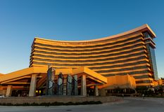 DURANT, OKLAHOMA - OKTOBER 17, 2017 - Mening van Choctaw-Casino Stock Foto's