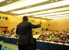 Durante a apresentação Foto de Stock