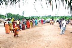 Durante a autoridade em uma vila imagens de stock royalty free