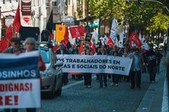 Durante a celebração do primeiro de maio no centro de cidade Imagens de Stock