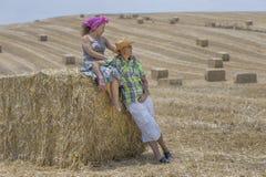 Durante a colheita Fotos de Stock Royalty Free