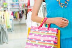 Durante compras Fotografía de archivo libre de regalías