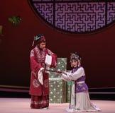 """Durante el  del oeste de Chamber†del """"the de Hong Niang-Kunqu Opera de la interrogación imagen de archivo libre de regalías"""