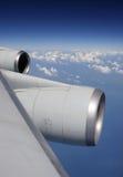 Durante il volo fotografia stock