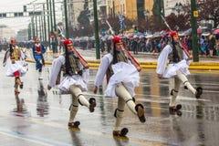 Durante la festa dell'indipendenza o il giorno della rinascita nazionale la Grecia è una festa nazionale annuale Immagini Stock
