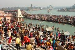 Durante las celebraciones Makar Sankranti Imagen de archivo