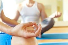 Durante a meditação Imagem de Stock