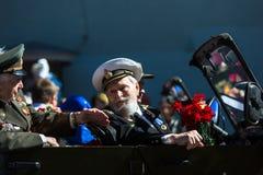 Durante o março imortal do regimento nas celebrações de Victory Day Imagem de Stock Royalty Free