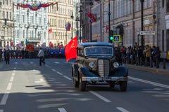 Durante o março imortal do regimento nas celebrações de Victory Day Fotografia de Stock